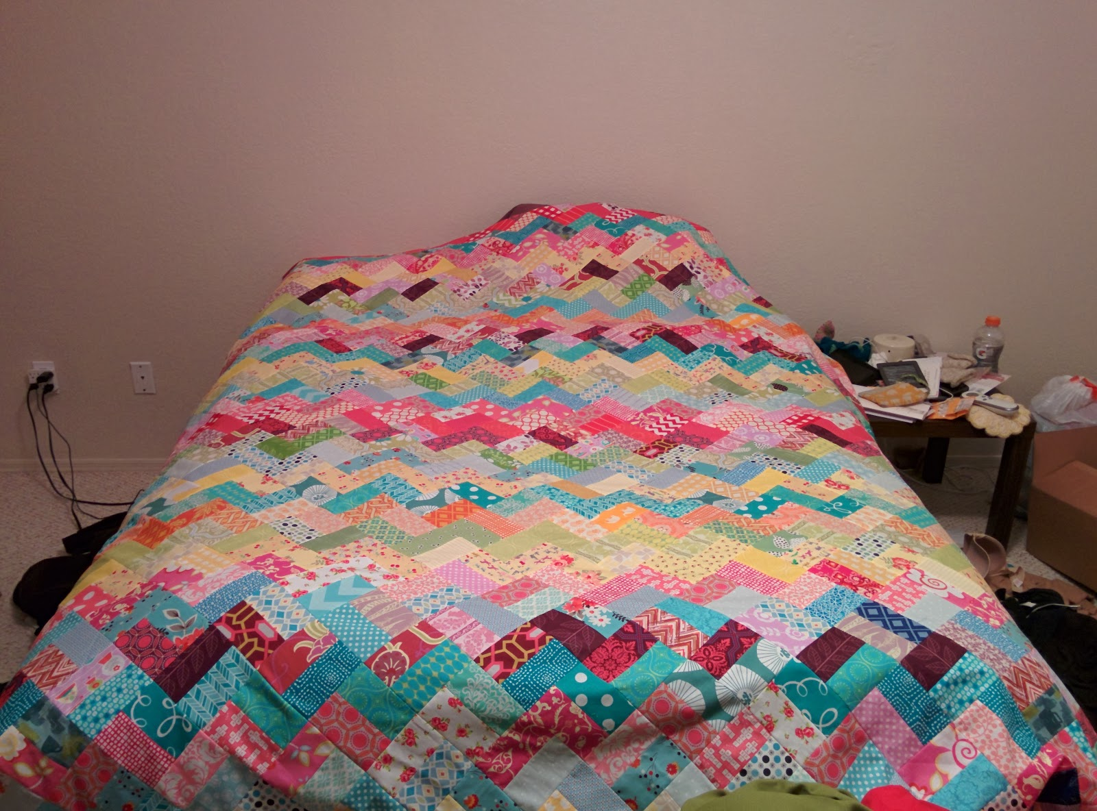 scrappy chevron bed