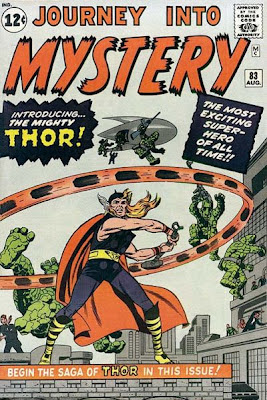 Journey into Mystery #83, Thor makes his debut and quickly sees off the Stone Men from Saturn