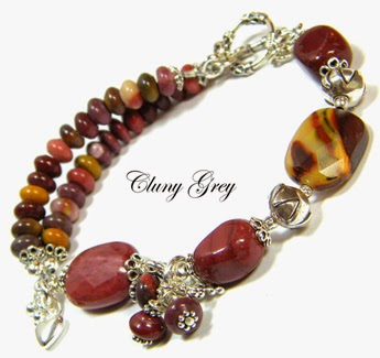 gemstone bracelet of mookaite