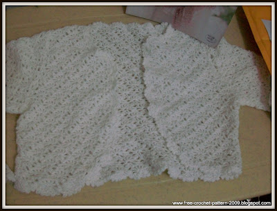 Girlie's White Bolero as crocheted christmas gift