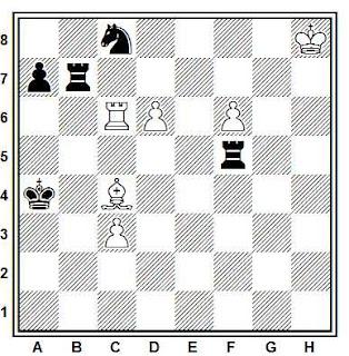 Estudio artístico de ajedrez compuesto por Kasparian (1930)