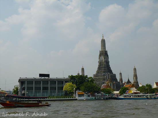 View of Wat Arun on Chao Phraya River