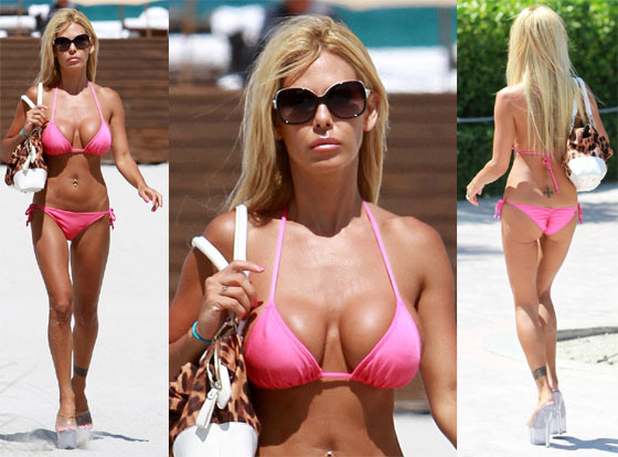 Shauna Sand In Tiny Pink Bikini Photos From Miami Beach