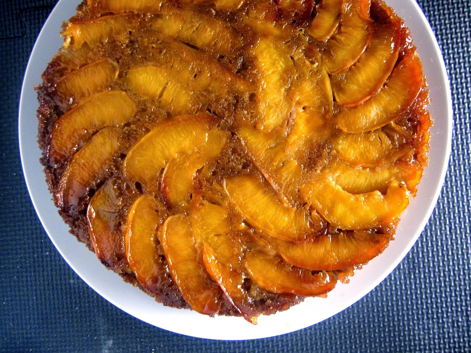 Whole Wheat Nectarine Upside Down Cake