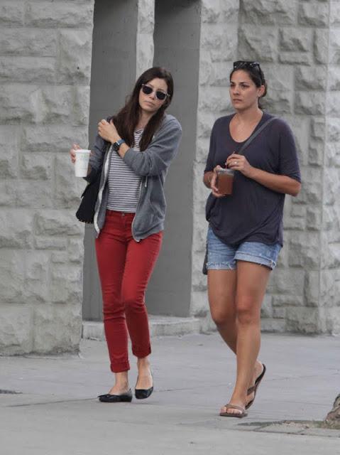Jessica Biel in red jeans
