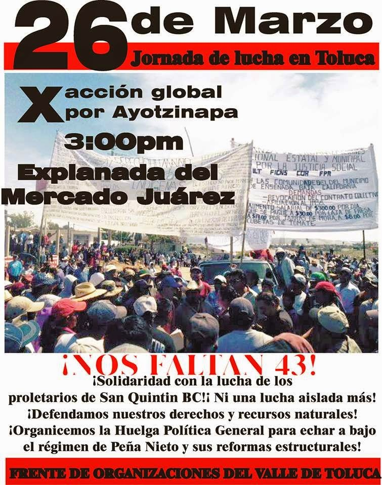 ACCION GLOBAL POR AYOTZINAPA