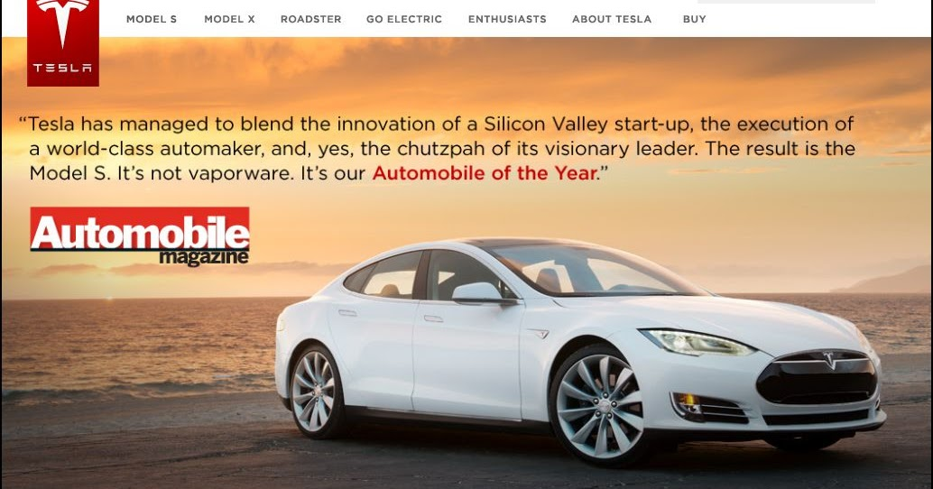 My ELife Now Automobile Magazine Chooses Tesla Model S For - Automobil tesla