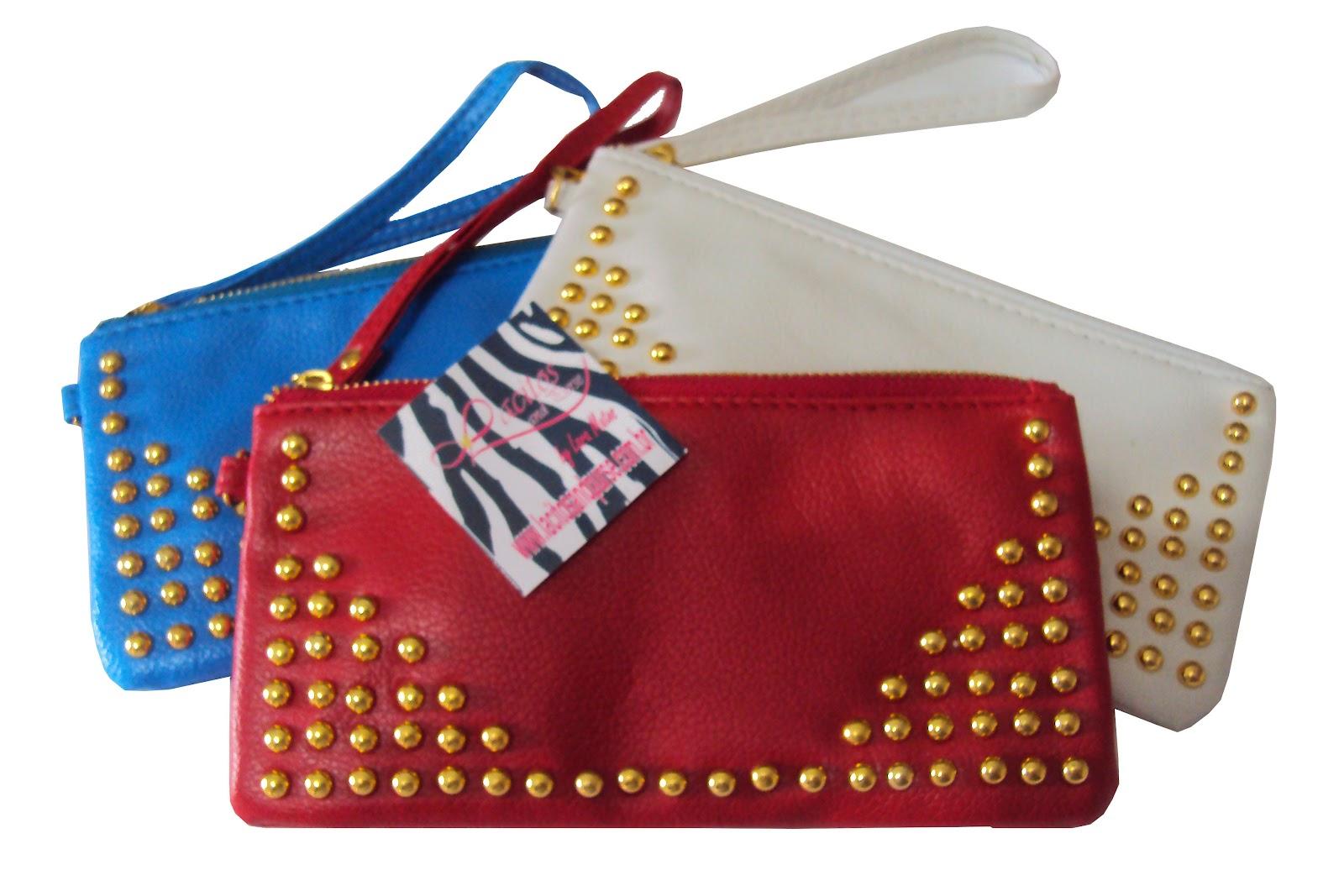 Bolsa De Mão Tipo Carteira : Lacitos store bolsa carteira de m?o com tachinhas