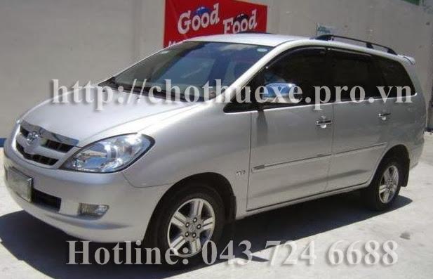 Cho thuê xe 7 chỗ Innova G tại Hà Nội