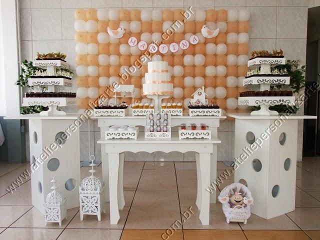 decoracao de cha de bebe provençal