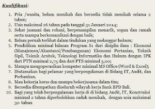 Lowongan Kerja Bank BPD Bali Januari 2014