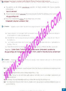 8.Sinif Turkce Enderun Yayinlari Calisma Kitabi Cevaplari Sayfa 27
