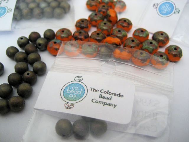 Czech beads from The Colorado Bead Company