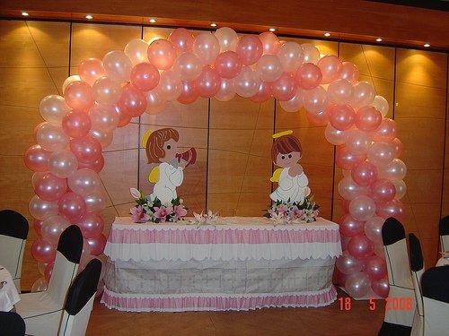 Decoracion con globos decoracion con globos bautismo y for Decoracion globos comunion