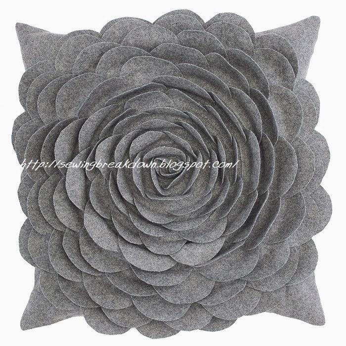 طريقة خياطة وسادة الوردة