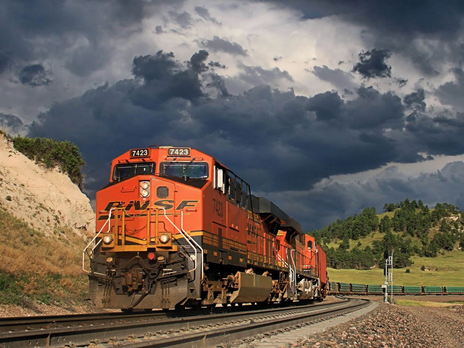 Group Of Freight Train Wallpapers For