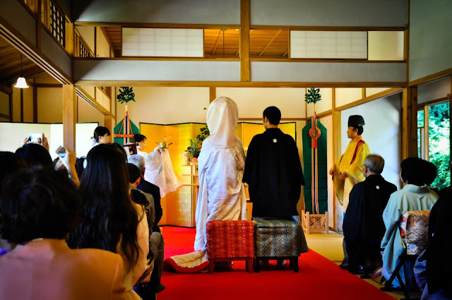Traditional Japanese wedding ceremony