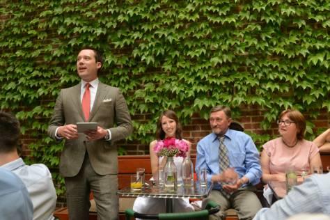 Groom's Speech - Gran Electrica Wedding - Back Deck
