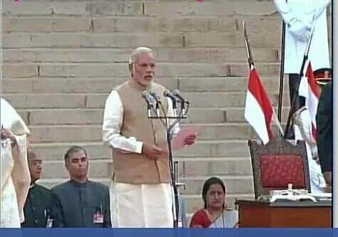 Oath PM of India, Narendra Modi, May26, 2014