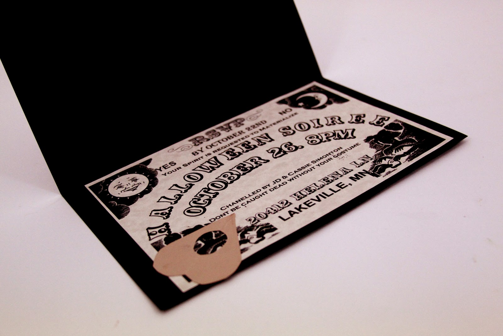 i do on a dime  ouija board invitations