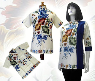 h MODEL BAJU BATIK WANITA MODERN