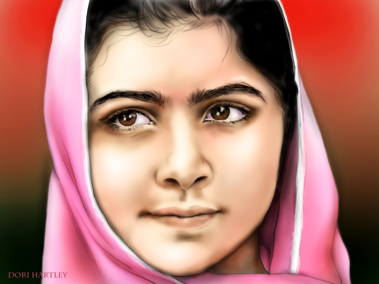 the hero of 2013 Malala