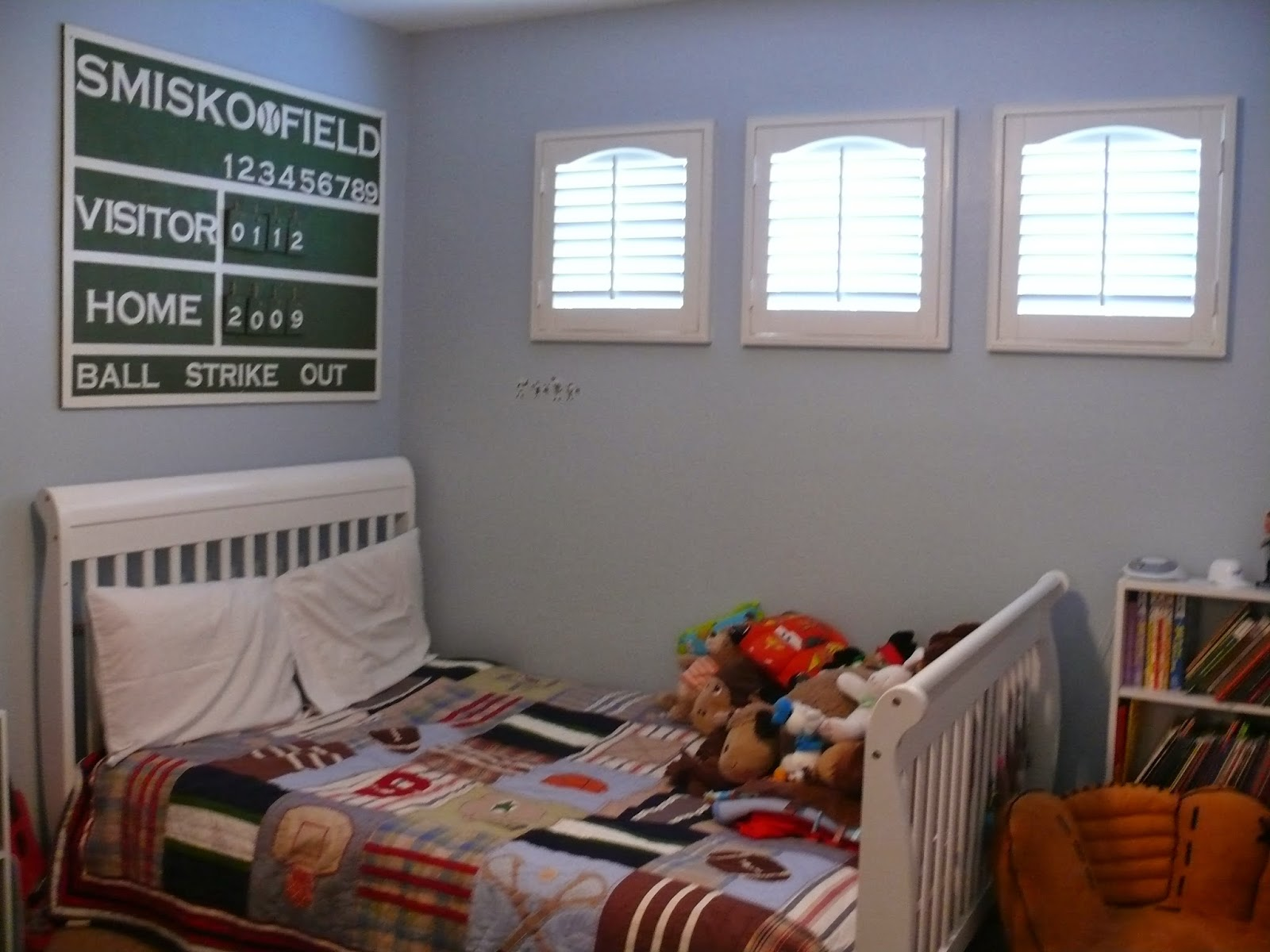 DIY Baseball Themed Room