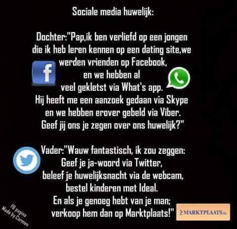 Sociale media huwelijk!