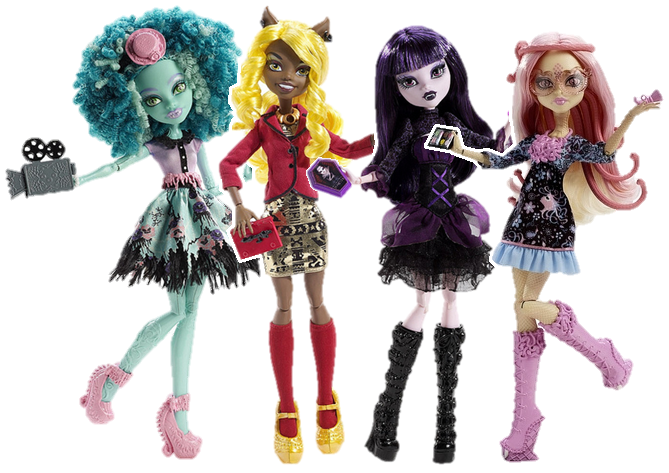 Ausmalbilder Monster High Frights, Camera, Action