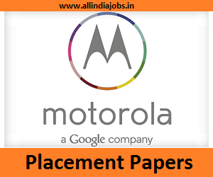Motorola Placement Papers