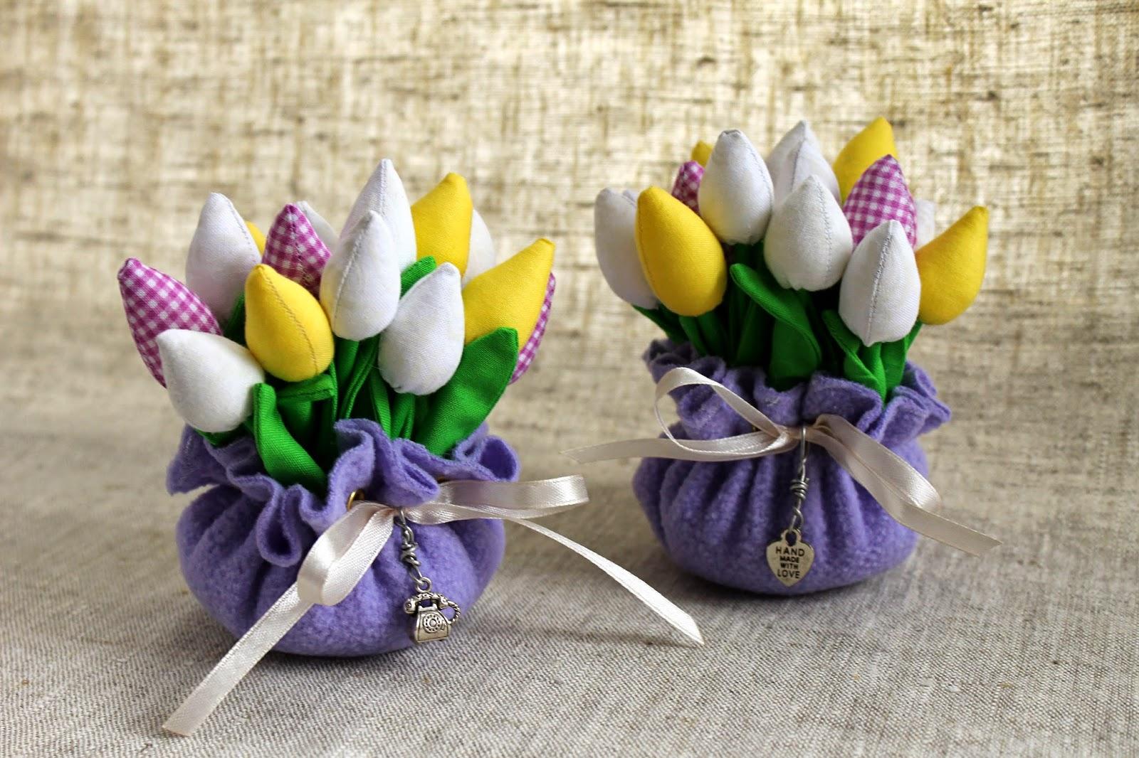 Тюльпаны из ткани, подарок на 8 марта, восьмое марта, день рождения, подарок маме, подарок женщине, для мамы, бабушке, цветы из ткани, весна, весенние цветы