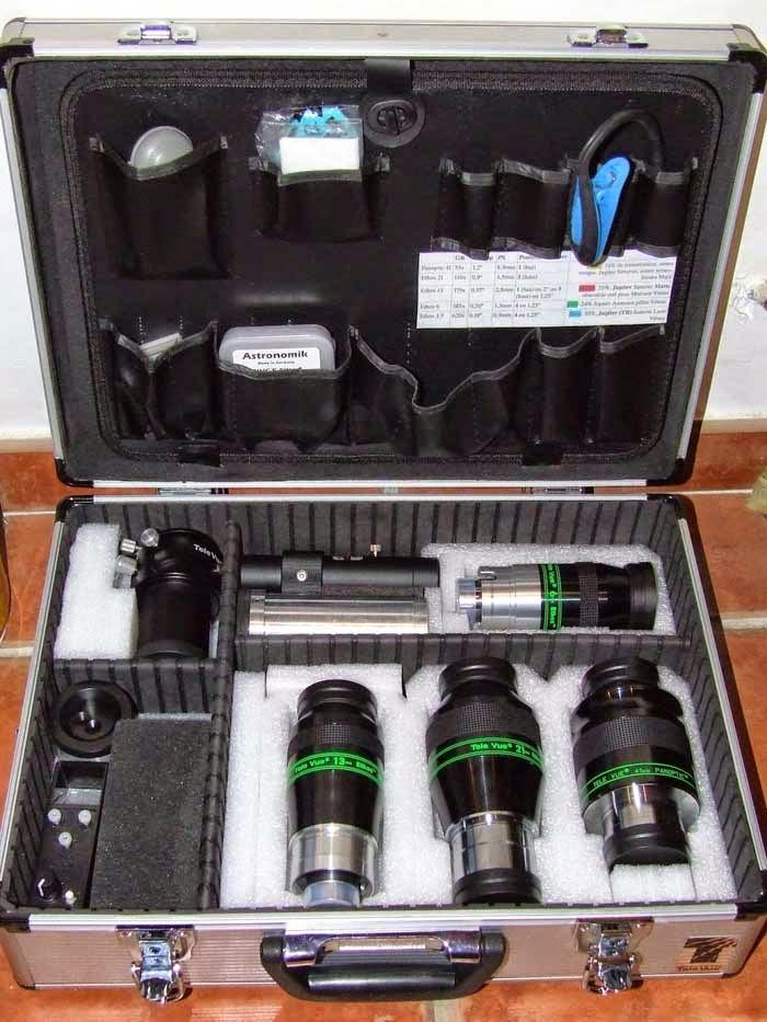 valise d'oculaires astronomiques