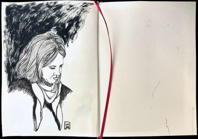 dibuix a tinta negra