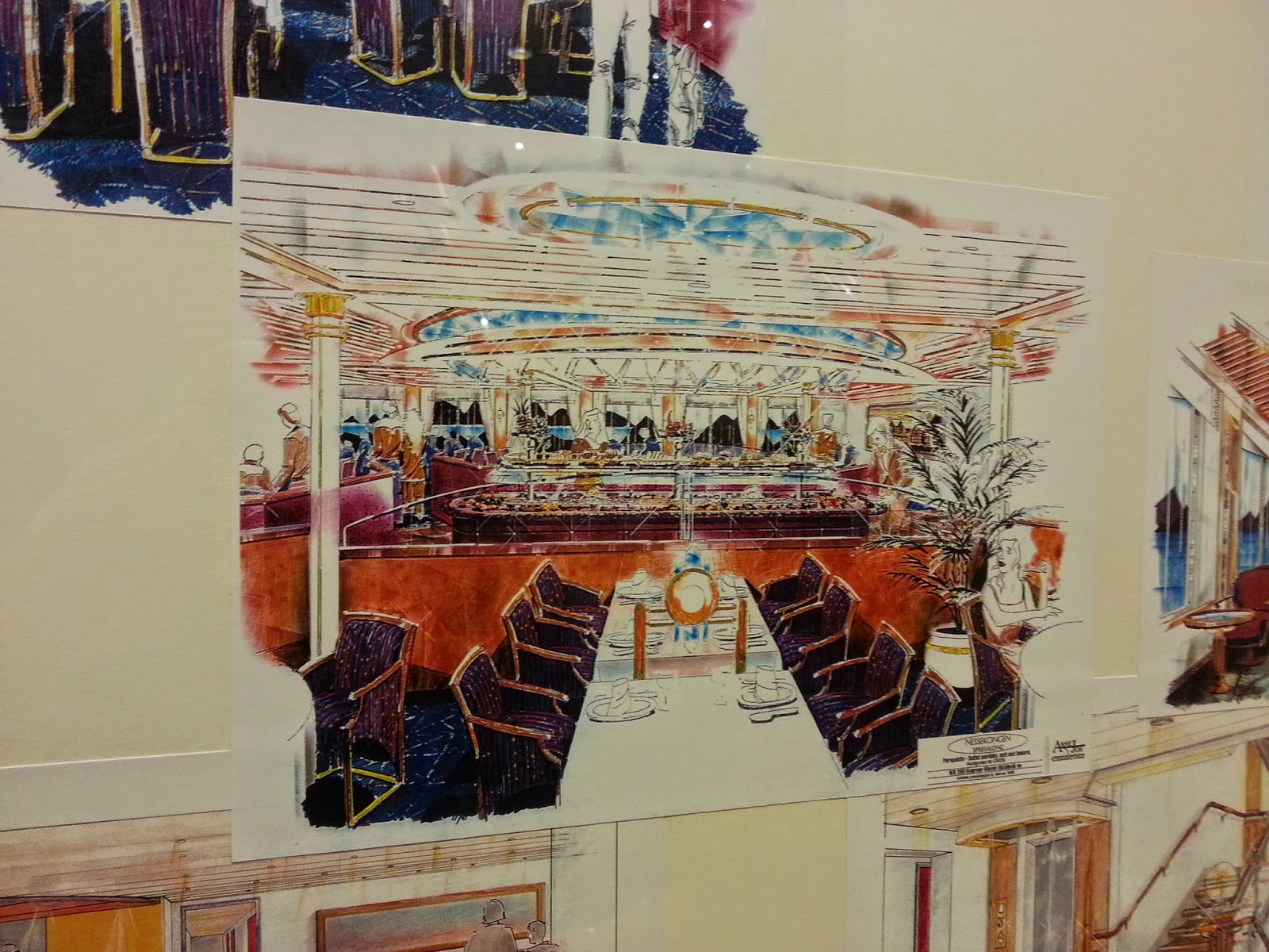 Hurtigruten MS Nordkapp - Artist's impression of the Restaurant