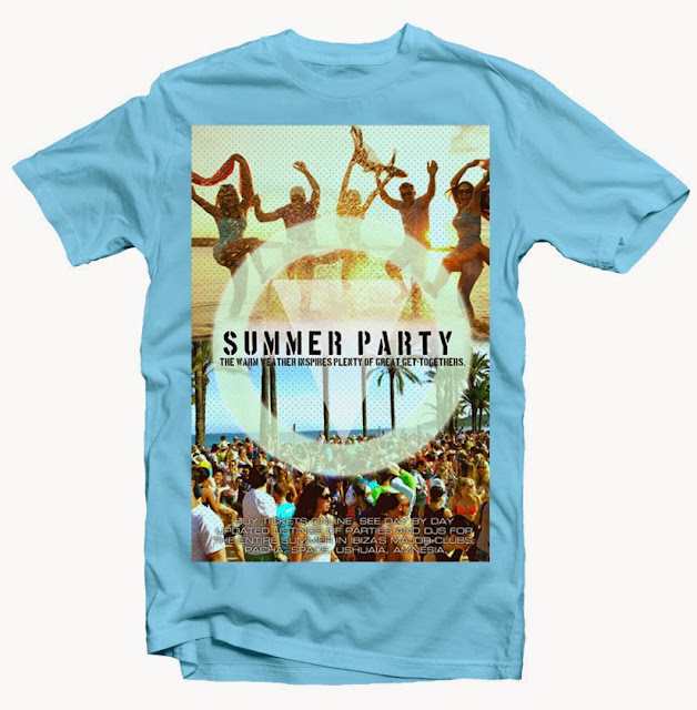 summer party tshirt