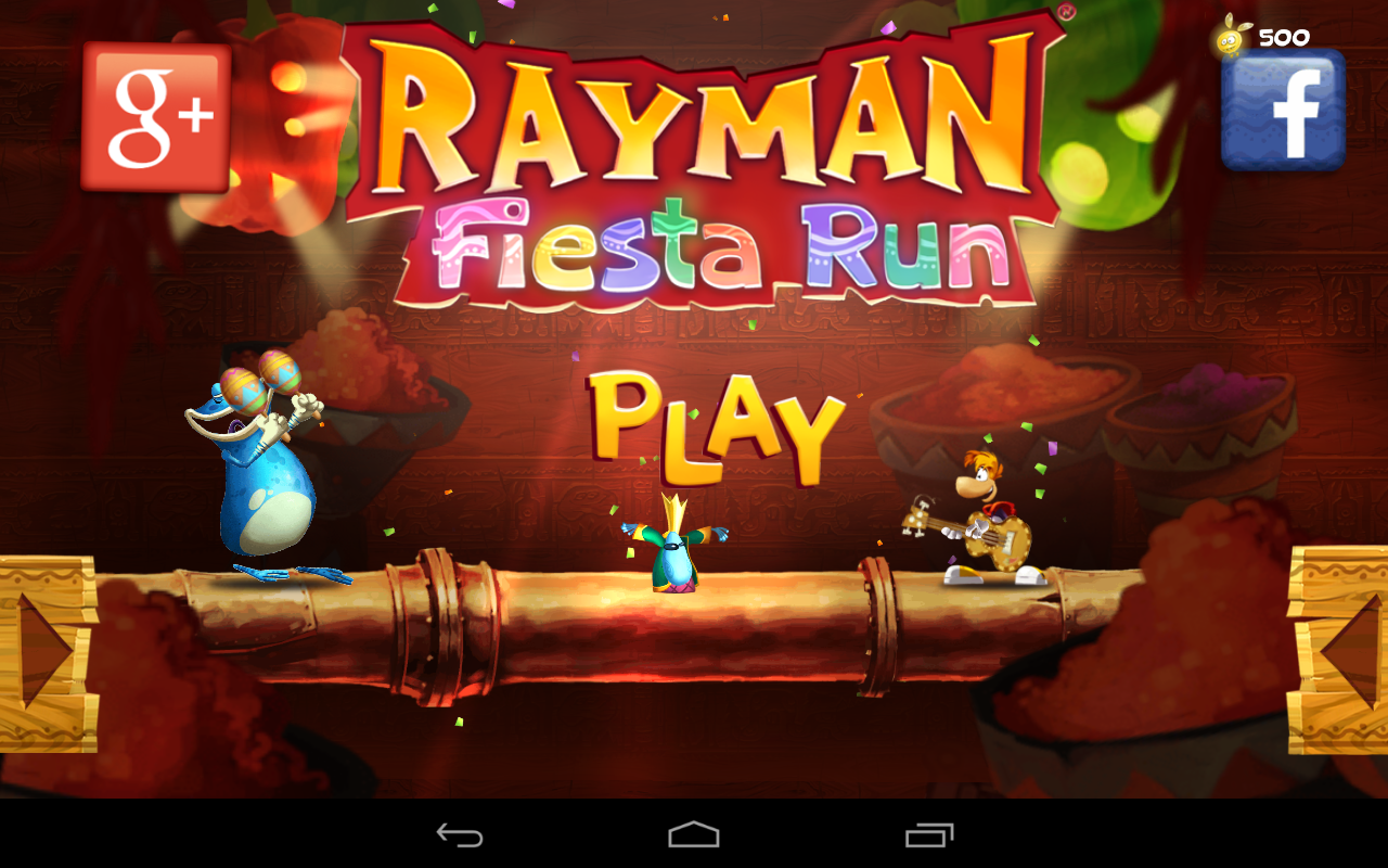 Rayman Fiesta Run: Launch screen