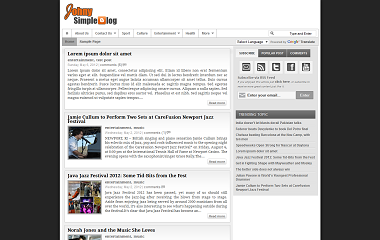 Johny Simpleblog Blogger Template
