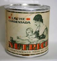 Antiguo envase de la leche condensada Nutricia de Nestlé (www.BlogMarcasBlancas.com)