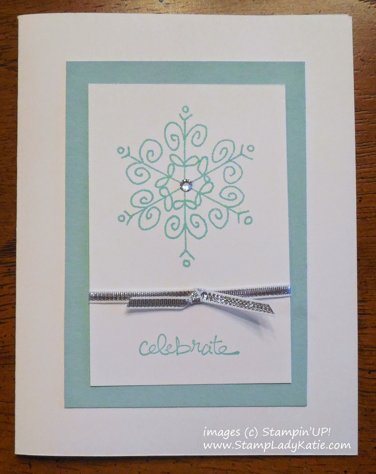 Winter Card made with the Snowflake from Stampin'UP!'s Endless Wishes stamp set
