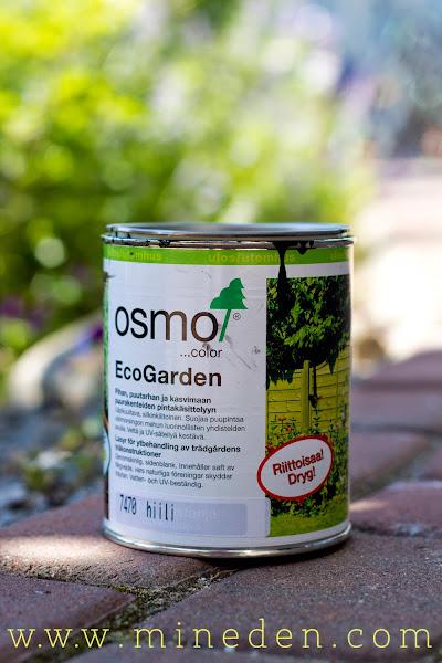 Behandla pallkragar med giftfri färg Osmo EcoGarden Hilli