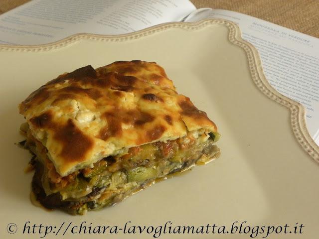 cucina greca : moussaka  di verdure  di vefa