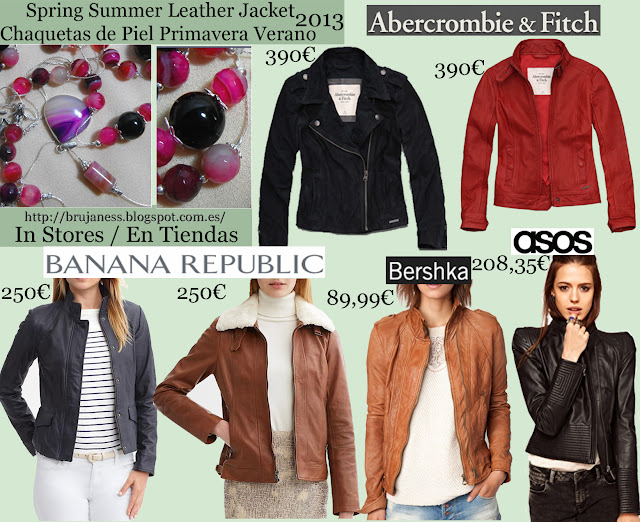 Abercromie & Fitch, leather, piel, pu, polipiel, black, negra, red, roja, brown, marrón, anana republic, fur,pelo, borreguillo, camel, sahariana, sahara, black, asos, studded, tachas, decorada