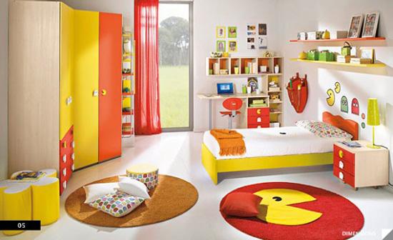 Desain Interior Kamar Anak Nuansa Game - Pac Man Theme Bedroom