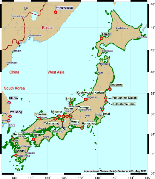 Science Decoded Japan All Nuclear Disasters Are Not Created Equal - Japan map bodies of water