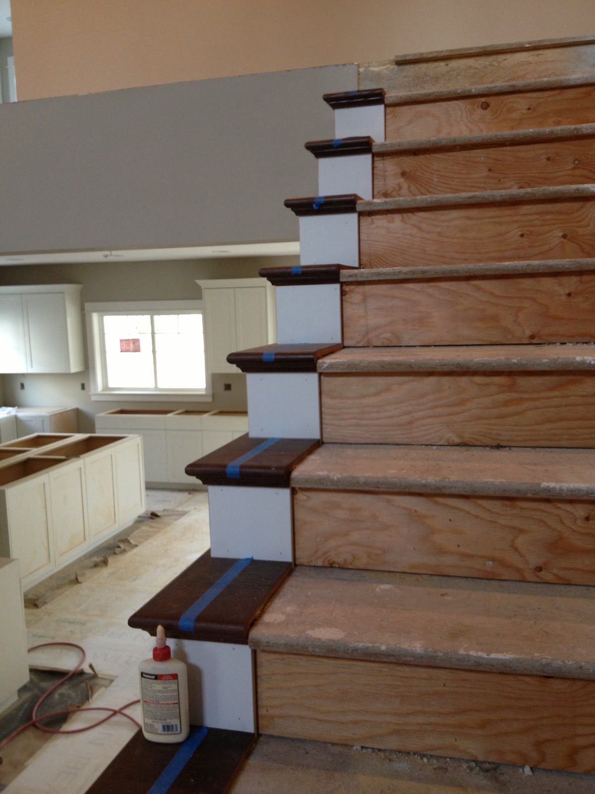 Stained Oak False Treads