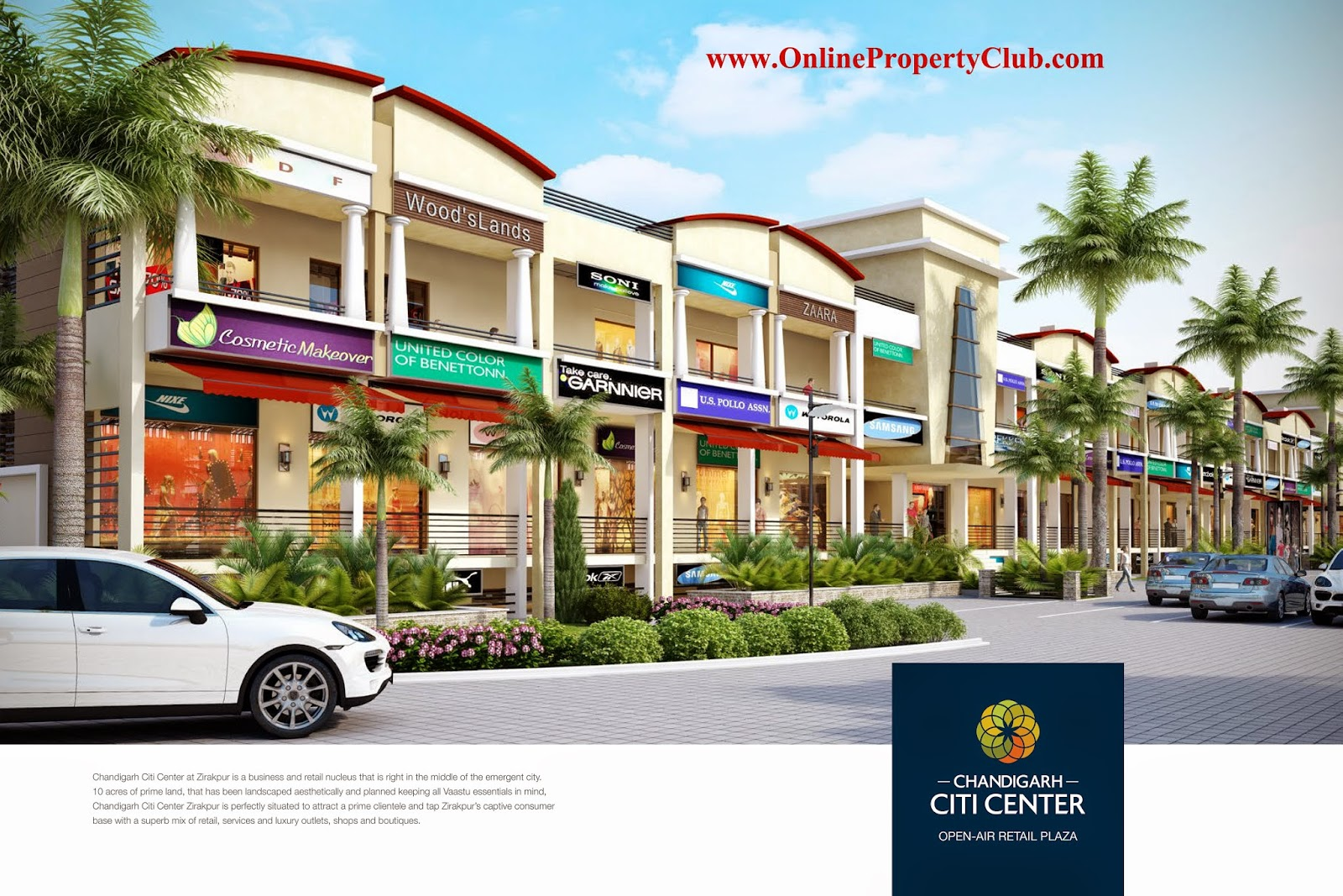 Chandigarh Citi Center, Commercial Hub on VIP Road, Zirakpur near Chandigarh