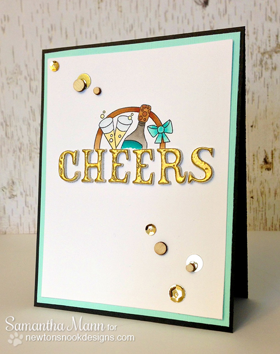 Cheers card by Samantha Mann for Newton's Nook Designs