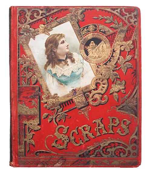 Vintage Scrapbook Cover ~ The vintage moth antique scrapbook cover