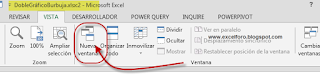 Abrir un Libro de Excel en varias ventanas simultáneas.