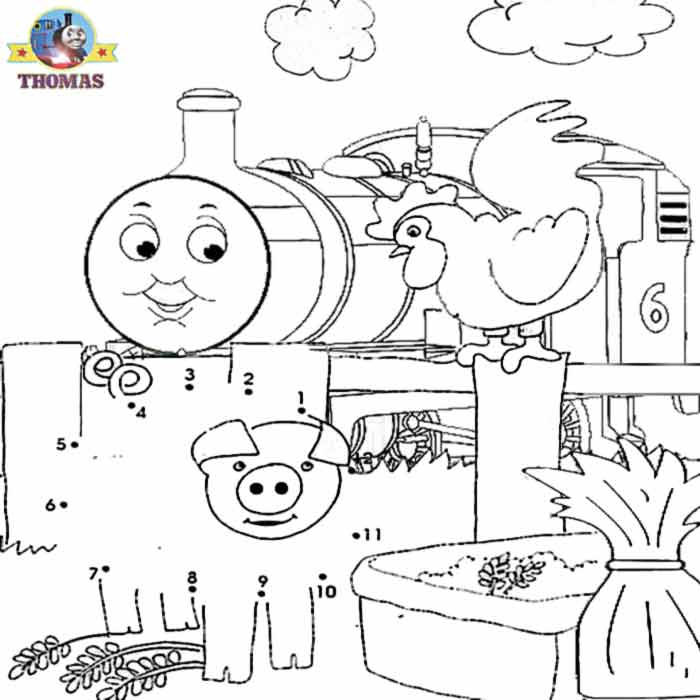Kids Games Dot To Numbers Coloring Pictures Free Online Pig Thomas And Friends Percy The